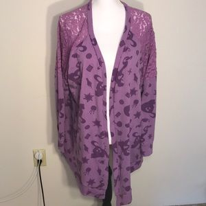 Torrid Disney Tangled Rapunzel Purple Lace Sweater